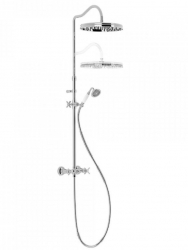 TRES - Súprava sprchové batérie, pevná sprcha priem 310 mm, s kĺbom (24219101)