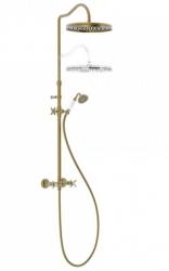 TRES - Súprava sprchové batérie, pevná sprcha priem 310 mm, s kĺbom (24219101LM)