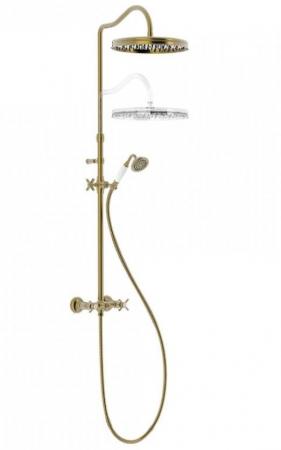 TRES - Súprava sprchové batérie, pevná sprcha priem 310 mm, s kĺbom (24219101LV)