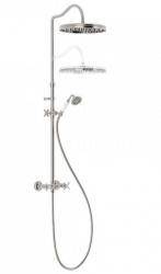 TRES - Súprava sprchové batérie, pevná sprcha priem 310 mm, s kĺbom (24219101AC)