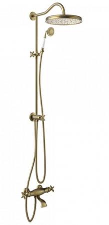 TRES - Súprava termostatické batérie pre vaňu-sprchu, pevná sprcha priemer 310 mm, s kĺbom (24219801LM)
