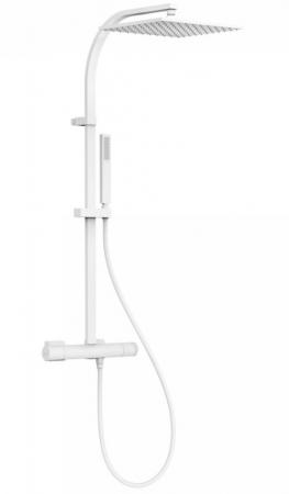 TRES - Súprava termostatické sprchové batérie, pevná sprcha 300x300 mm, s kĺbom (21139501BM)