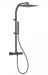 TRES - Súprava termostatické sprchové batérie, pevná sprcha 300x300 mm, s kĺbom (21139501NM)