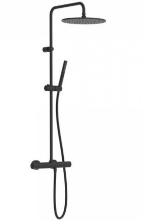 TRES - Súprava termostatické sprchové batérie, pevná sprcha priemer 300 mm. s kĺbom (26238701NM)