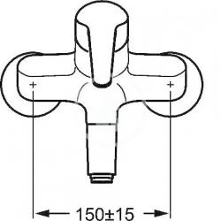 HANSA - Mix Páková umývadlová batéria nástenná, chróm (01968276), fotografie 2/2
