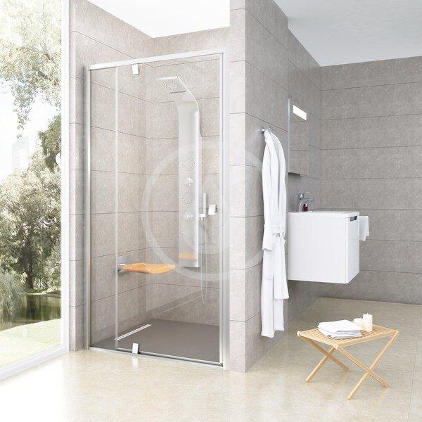 RAVAK - Pivot Sprchové dveře PDOP2-100, 961-1011 mm, satin/čiré sklo (03GA0U00Z1)