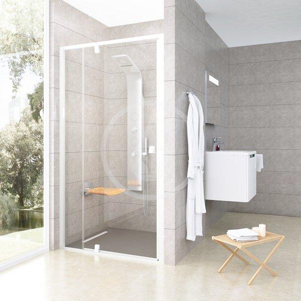RAVAK - Pivot Sprchové dveře PDOP2-100, 961-1011 mm, bílá/čiré sklo (03GA0101Z1)