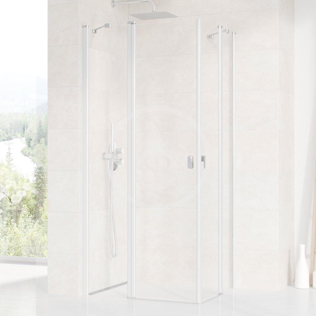 RAVAK - Chrome Sprchové dveře CRV2-100, 980-1000 mm, satin/čiré sklo (1QVA0U00Z1)