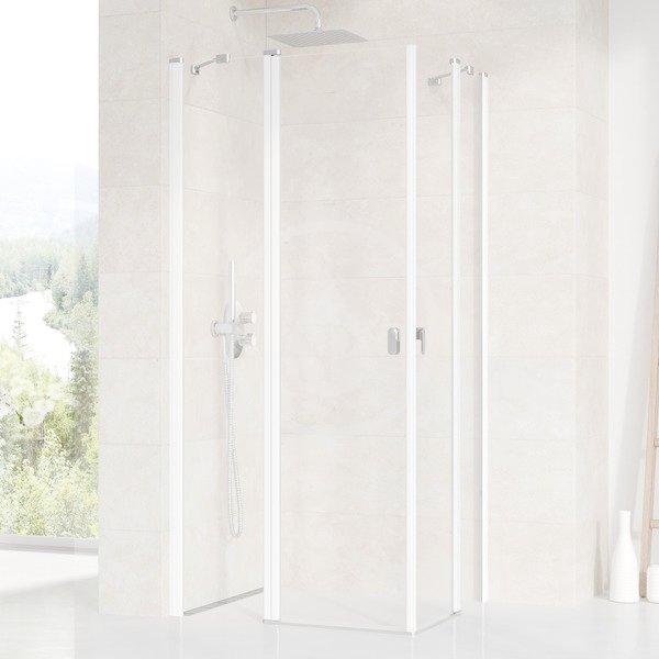 RAVAK - Chrome Sprchové dveře CRV2-100, 980-1000 mm, bílá/čiré sklo (1QVA0100Z1)