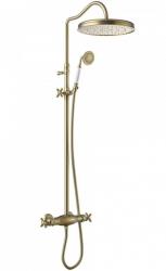TRES - Súprava termostatické sprchové batérie, pevná sprcha priemer 310 mm, s kĺbom (24219502LM)