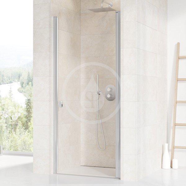 RAVAK - Chrome Sprchové dveře jednodílné CSD1-90, 875-905 mm, satin/čiré sklo (0QV70U00Z1)