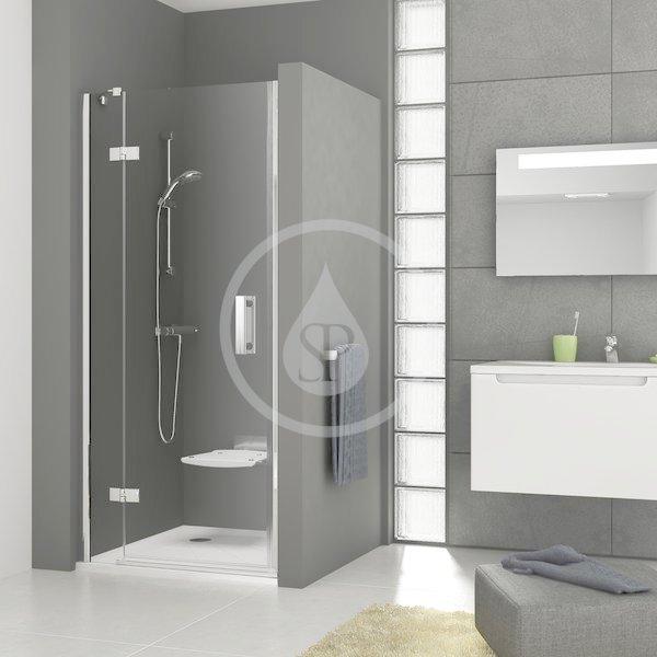 RAVAK - SmartLine Sprchové dveře dvoudílné SMSD2-110 B-L, 1099-1116 mm, levé, chrom/čiré sklo (0SLDBA00Z1)