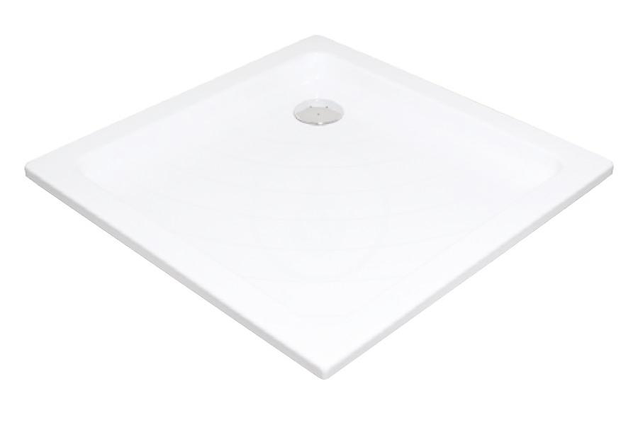 RAVAK - Kaskada Štvorcová sprchová vanička Kaskada, šírka 905 mm x 905 mm, biela – vanička, typ PU A007701120