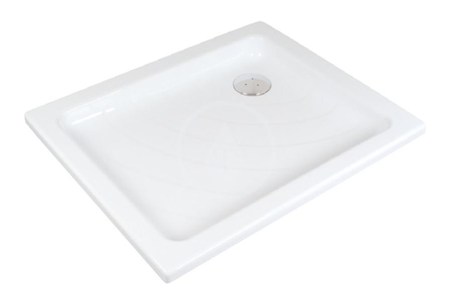RAVAK - Kaskada Sprchová vanička Aneta PU, 755x905 mm, AntiBac, bílá (A003701120)