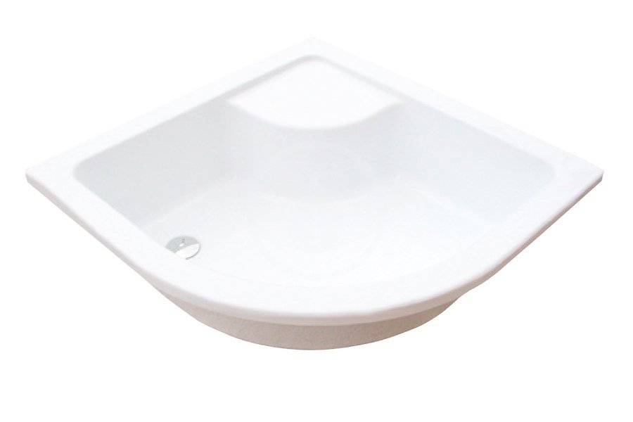 RAVAK - Minivana Hluboká sprchová vanička Sabina 80-LA, 800x800 mm, AntiBac, bílá (A214001020)