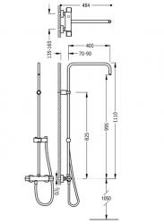 TRES - Súprava termostatické sprchové batérie bez príslušenstva (08149501), fotografie 2/1