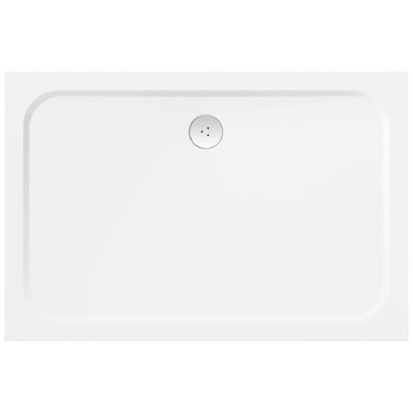 RAVAK - Galaxy Pro Chrome Sprchová vanička Gigant Pro-100 Chrome, 1200x800 mm, bílá (XA04G401010)