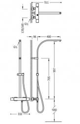 TRES - Súprava termostatické sprchové batérie bez príslušenstva (20549501), fotografie 2/1
