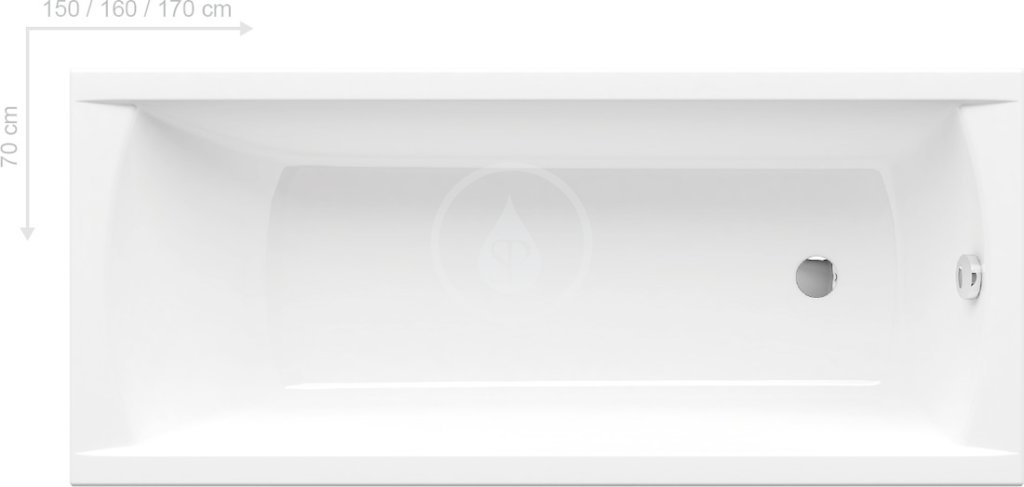 RAVAK - Classic Obdélníková vana 1500x700 mm, bílá (C521000000)
