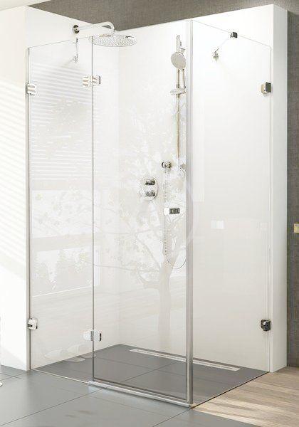 RAVAK - Brilliant Sprchové dvere dvojdielne s pevnou stenou BSDPS-100 R, pravé, 983 mm – 995 mm, farba chróm, sklo transparent 0UPA0A00Z1