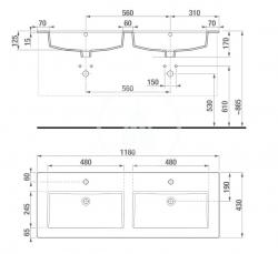 JIKA - Cube Skrinka so 4 zásuvkami, 1200x430 mm – farba biela/antibakteriálna (H4536621763001), fotografie 4/11