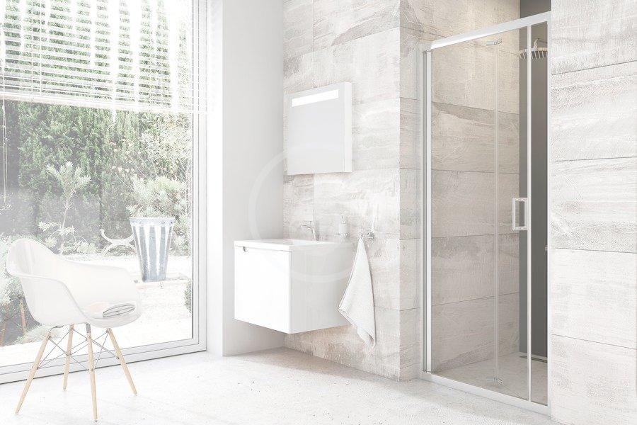 RAVAK - Blix Sprchové dvere zalamovacie dvojdielne BLDZ2-70, 670 mm – 710 mm x 1900 mm, farba lesklý hliník, sklo transparent X01H10C00Z1
