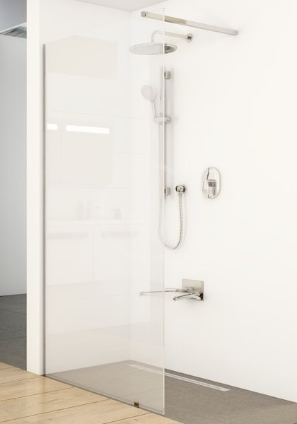 RAVAK - Walk-In Sprchová stěna Walk-in Wall 100, 1000x2000 mm, lesklý hliník/čiré sklo (GW9WA0C00Z1)