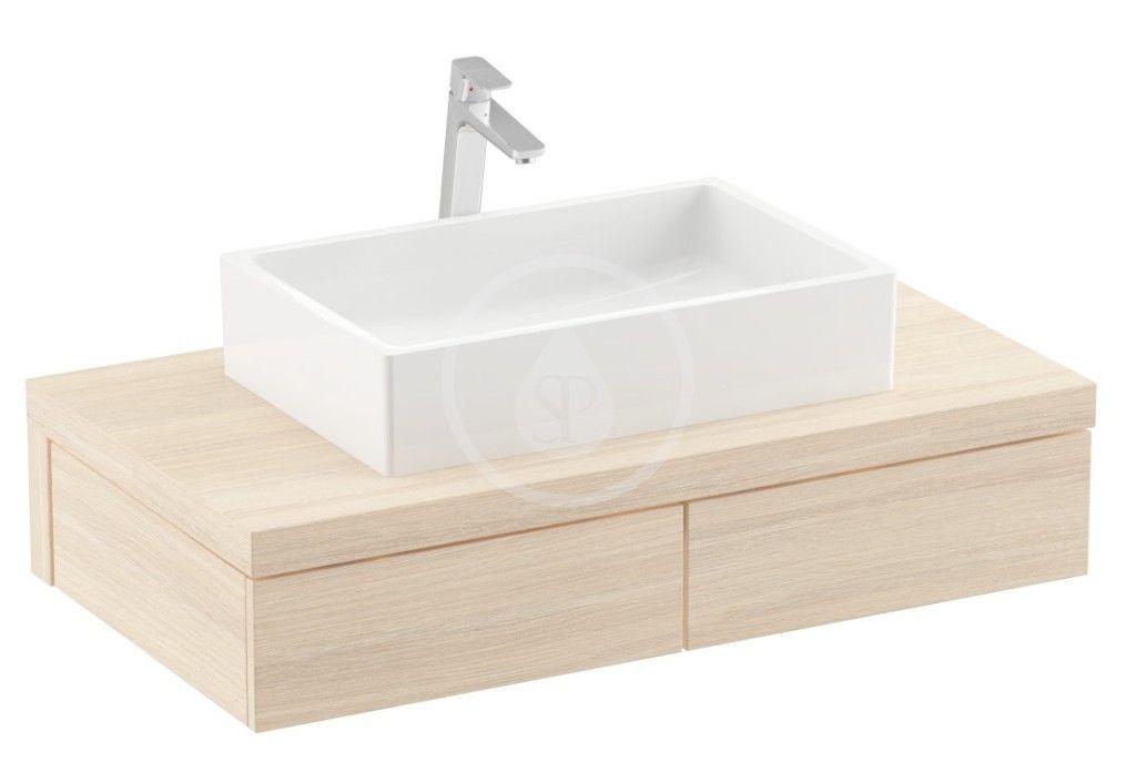 RAVAK - Formy Skrinka pod umývadlo 1000x550x220 mm, dub X000001033