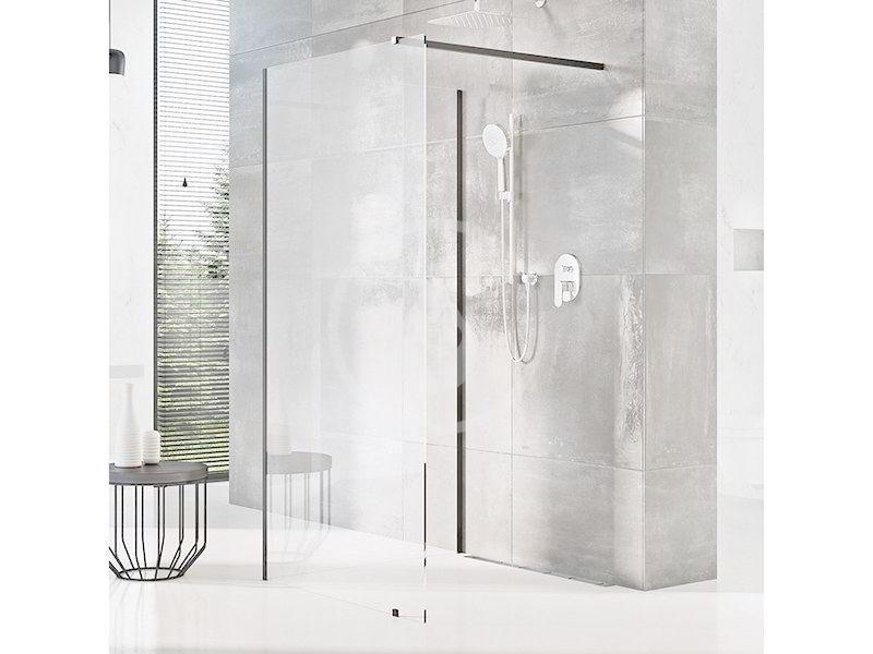 RAVAK - Walk-In Sprchový kout Walk-In Corner 120/90, 1200x2000 mm, černá/čiré sklo (GW1CG7300Z1)