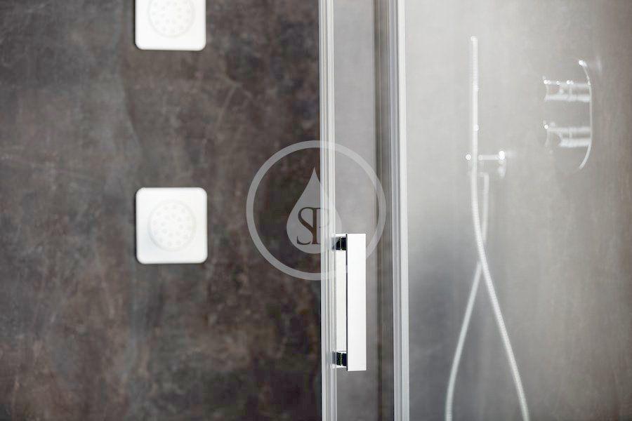 RAVAK - Matrix Sprchové dvere posuvné MSD4-160, štvordielne, 1575-1615 mm, farba satin/sklo transparent (0WKS0U00Z1)