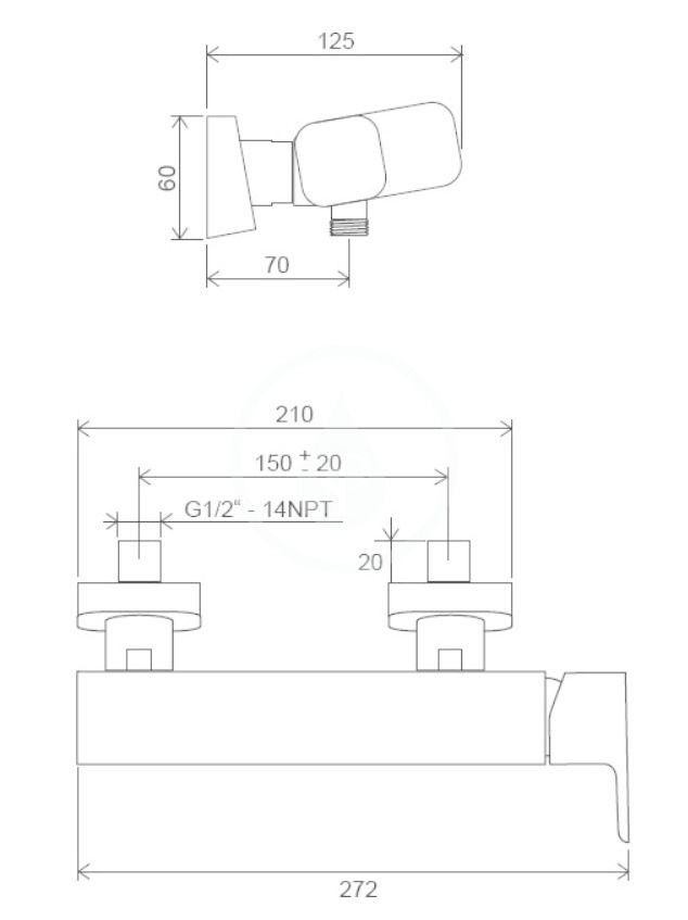 RAVAK - 10° Free Sprchová batéria TD F 032.00/150, chróm (X070132)