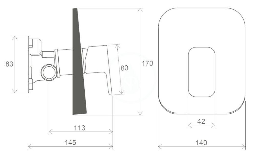RAVAK - 10° Free Sprchová batéria TD F 066.00 pod omietku, pre R-box, chróm (X070137)