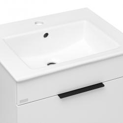 JIKA - Cube Skrinka s umývadlom, 540mmx422mmx607mm – skrinka, korpus biely, čelo zásuvky biele, držadlá čierne (H4536121763001), fotografie 8/8
