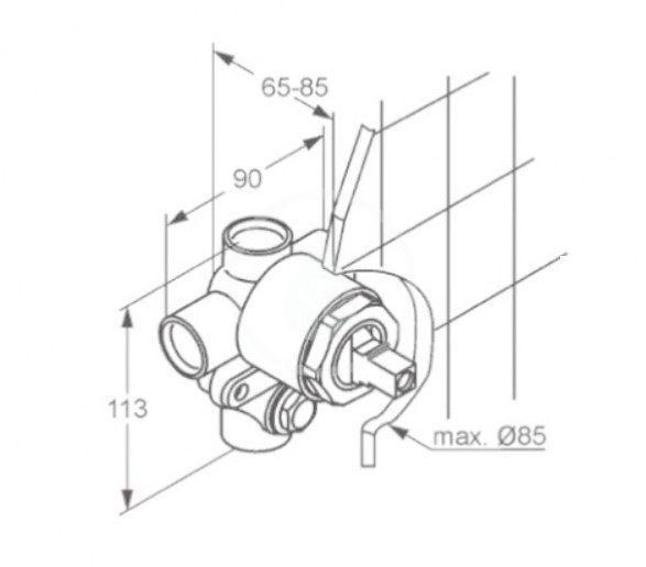 KLUDI - Montážní tělesa Montážne teleso pod omietku na 2 spotrebiče (38624N)