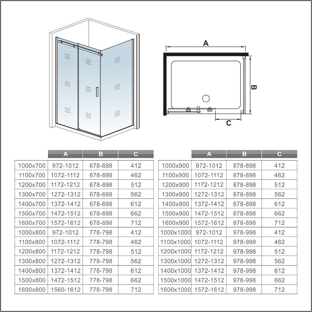 H K - Obdĺžnikový sprchovací kút HARMONY 110x80cm, L / P variant (SE-HARMONY11080)