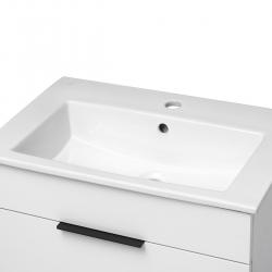 JIKA - Cube Skrinka s umývadlom, 440mmx422mmx607mm – skrinka, korpus biely, čelo zásuvky biele, držadlá čierne (H4536221763001), fotografie 12/8