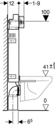 GEBERIT KOMBIFIXBasic vr. matného tlačidla DELTA 21 + WC JIKA TIGO + SEDADLO duraplastu RÝCHLOUPÍNACIE (110.100.00.1 21MA TI1), fotografie 16/11