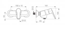 HANSA - Polo Páková sprchová batéria ThermoCool, chróm (51450193), fotografie 2/2
