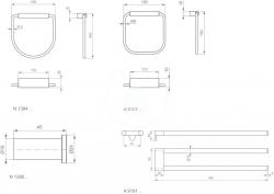 IDEAL STANDARD - Connect Držiak na uteráky 169mmx35mm x164mm hranatý (otočný), chróm (A9101AA), fotografie 2/2