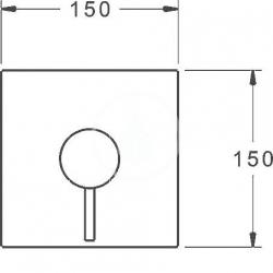 HANSA - Stela Páková sprchová batéria pod omietku, chróm (87859051), fotografie 4/2