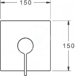 HANSA - Loft Páková sprchová batéria pod omietku, chróm (87629003), fotografie 2/2