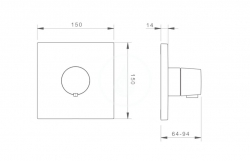 HANSA - Living Termostatická centrálna batéria pod omietku, chróm (81129573), fotografie 2/1