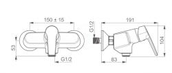 HANSA - Polo Páková sprchová batéria nástenná, chróm (514501930067), fotografie 2/1