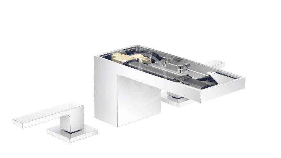 AXOR - MyEdition Umývadlová batéria s výpusťou Push-Open, 3-otvorová inštalácia, chróm/bez doštičky 47052000