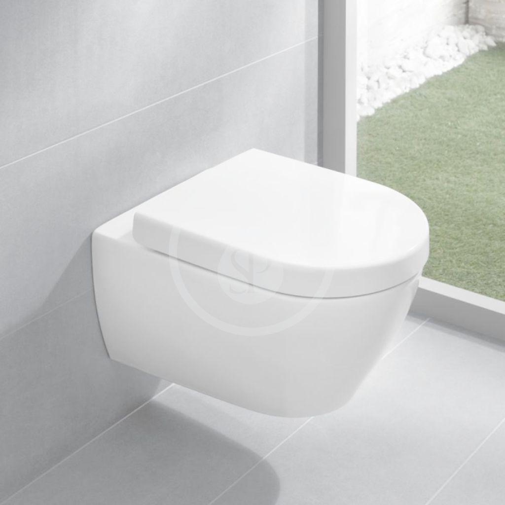 VILLEROY & BOCH - Subway 2.0 Závesné kompaktné WC, DirectFlush, alpská biela (5606R001)