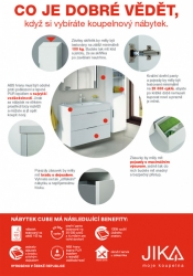 JIKA - Cube Skrinka so 4 zásuvkami, 1200x430 mm – farba biela/antibakteriálna (H4536621763001), fotografie 6/11