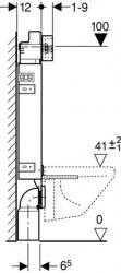 GEBERIT KOMBIFIXBasic vr. chrómového tlačidla DELTA 50 + WC JIKA TIGO + SEDADLO duraplastu RÝCHLOUPÍNACIE (110.100.00.1 50CR TI1), fotografie 16/12