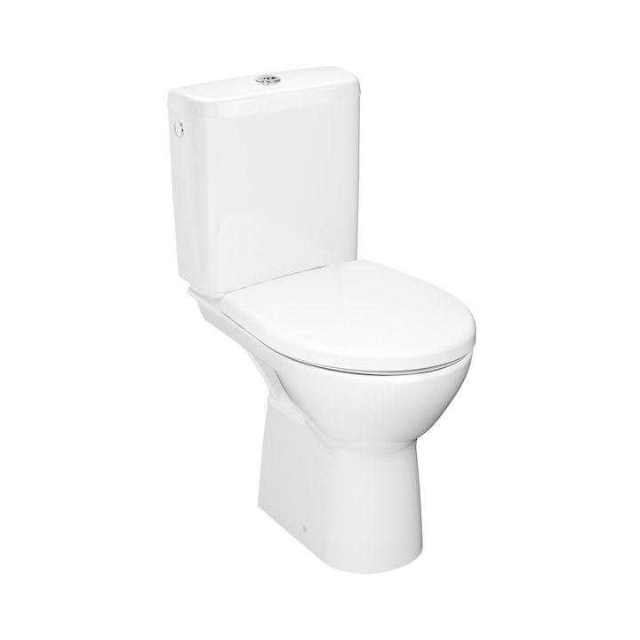 JIKA - Lyra plus WC kombi misa, vodorovný odpad, Rimless, biela H8273860002801
