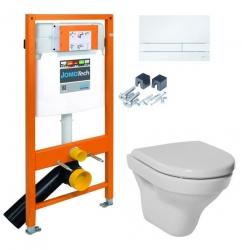JOMOTech modul pre závesné WC s bielou doskou + WC JIKA TIGO + SEDADLO duraplastu RÝCHLOUPÍNACIE (174-91100900-00 TI1), fotografie 18/13