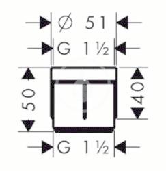 HANSGROHE - Okrajové systémy Predĺženie prívodu Secuflex (98806000), fotografie 2/1
